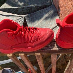 Jordan 12s red